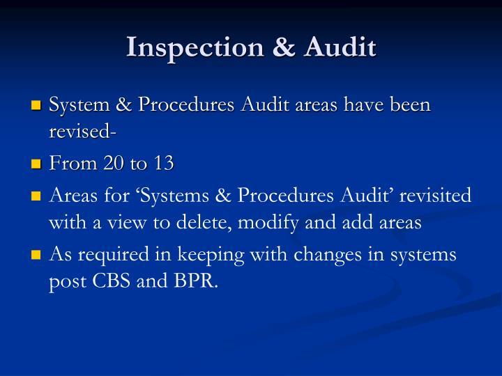 Inspection & Audit