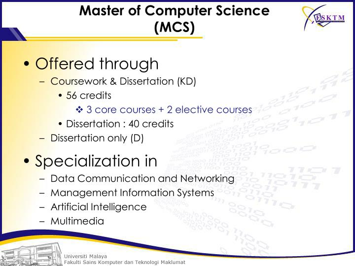 Master of Computer Science