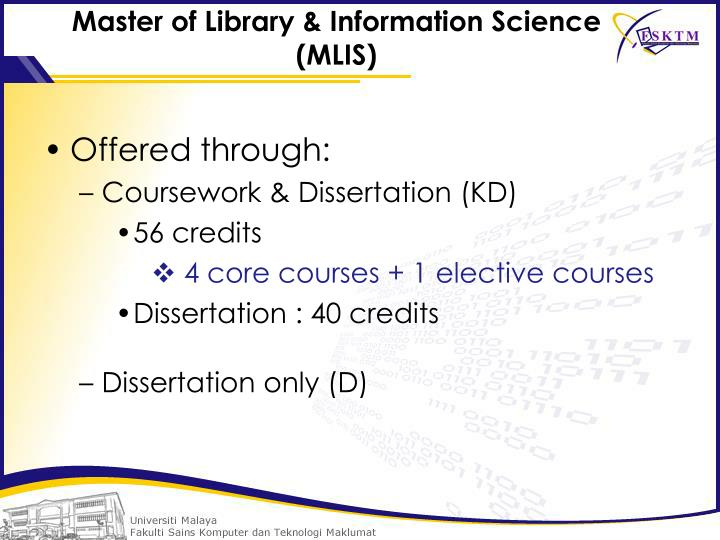 Master of Library & Information Science