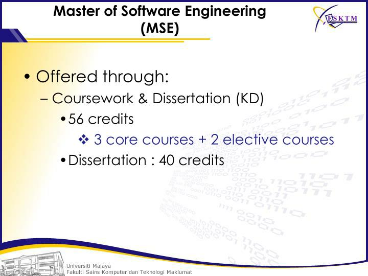 Master of Software Engineering