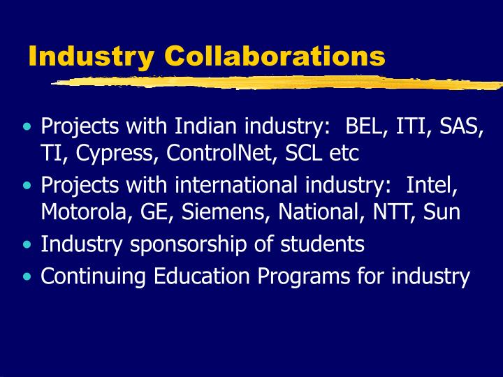 Industry Collaborations