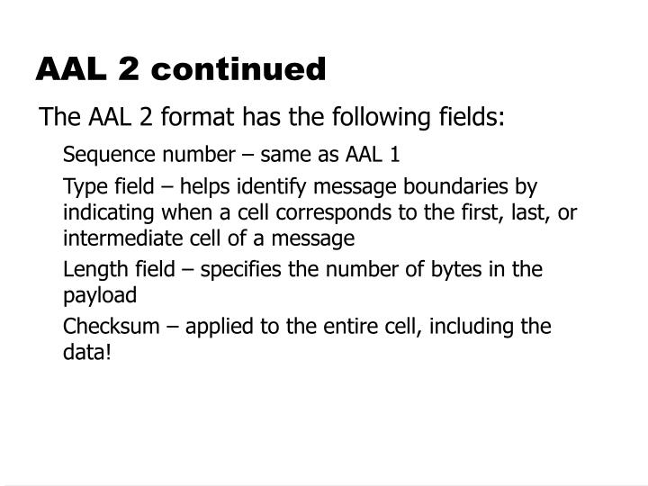 AAL 2 continued
