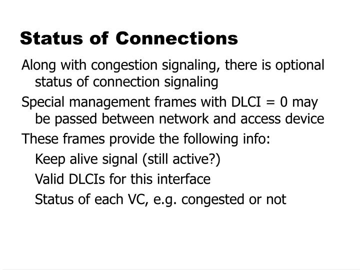 Status of Connections
