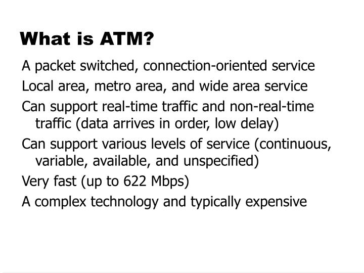 What is atm