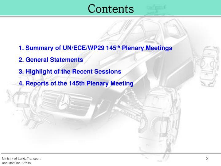 1. Summary of UN/ECE/WP29 145