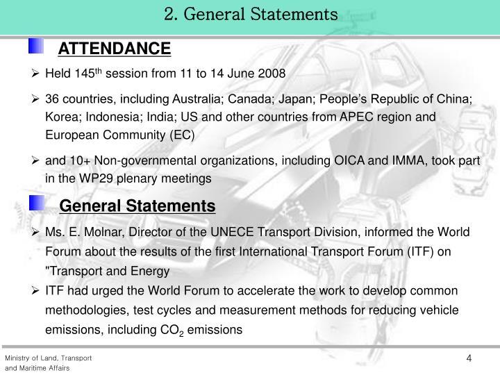 2. General Statements