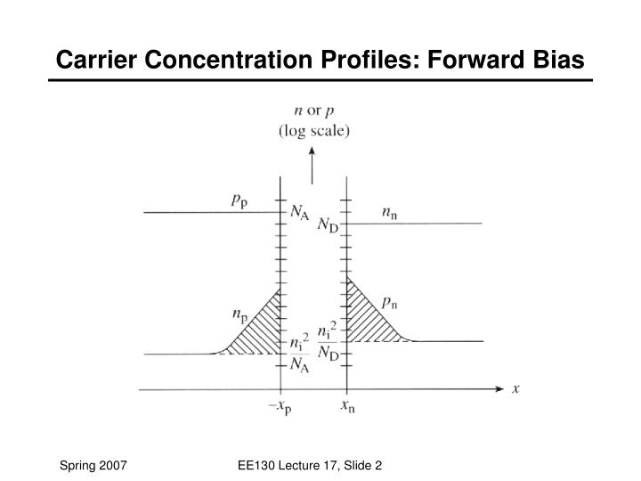 Carrier Concentration Profiles: Forward Bias