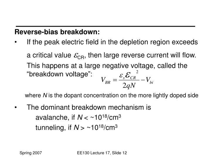 Reverse-bias breakdown: