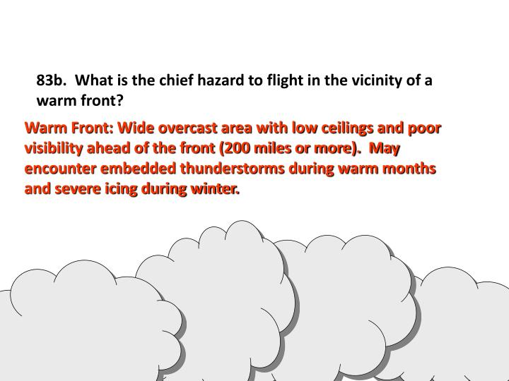 83b.  What is the chief hazard to flight in the vicinity of a