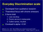 everyday discrimination scale