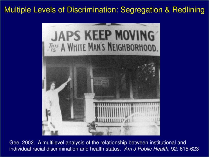 Multiple Levels of Discrimination: Segregation & Redlining
