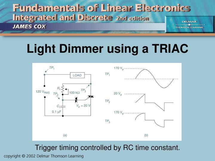 Light Dimmer using a TRIAC