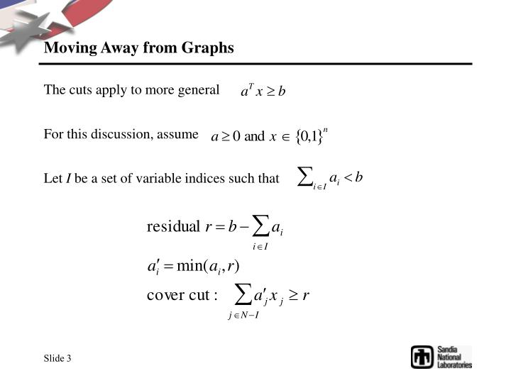Moving Away from Graphs