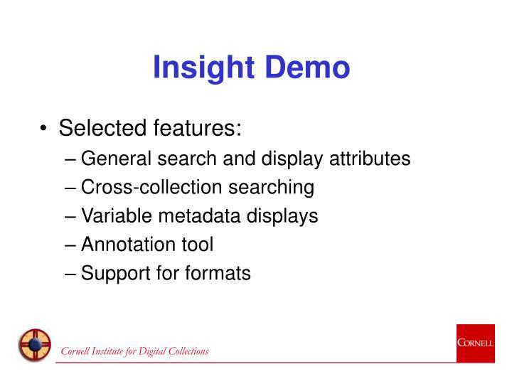 Insight Demo