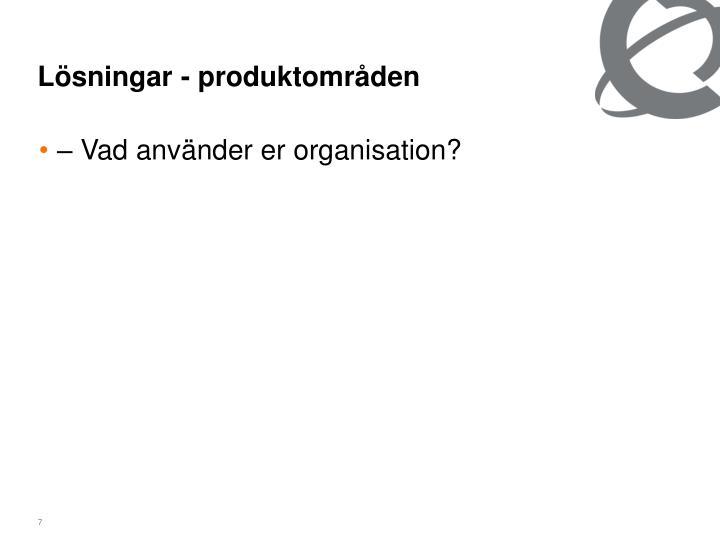 Lösningar - produktområden