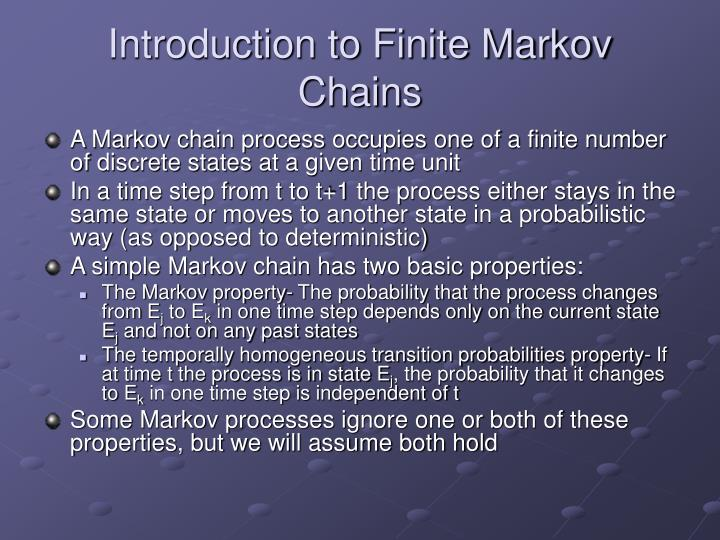 Introduction to Finite Markov Chains