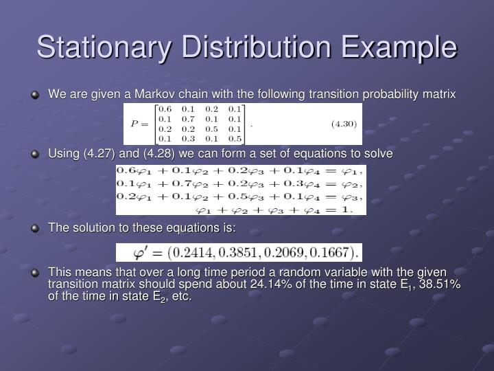 Stationary Distribution Example