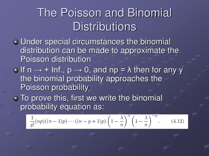 The Poisson and Binomial Distributions