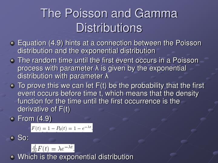 The Poisson and Gamma Distributions