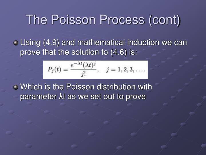 The Poisson Process (cont)