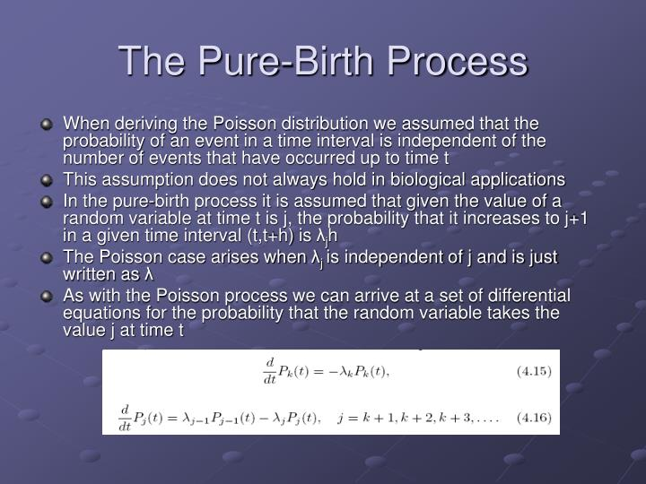 The Pure-Birth Process