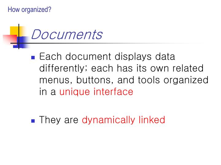 How organized?