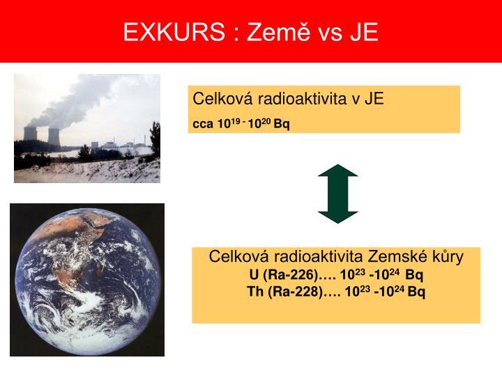 EXKURS : Země vs JE