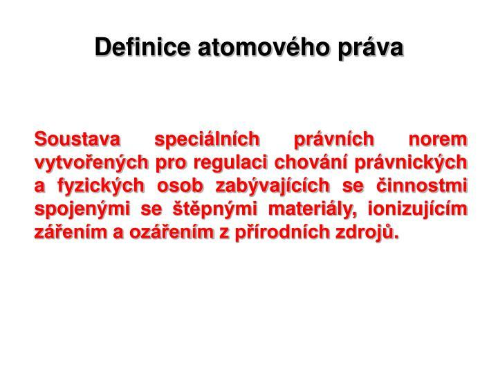 Definice atomového práva