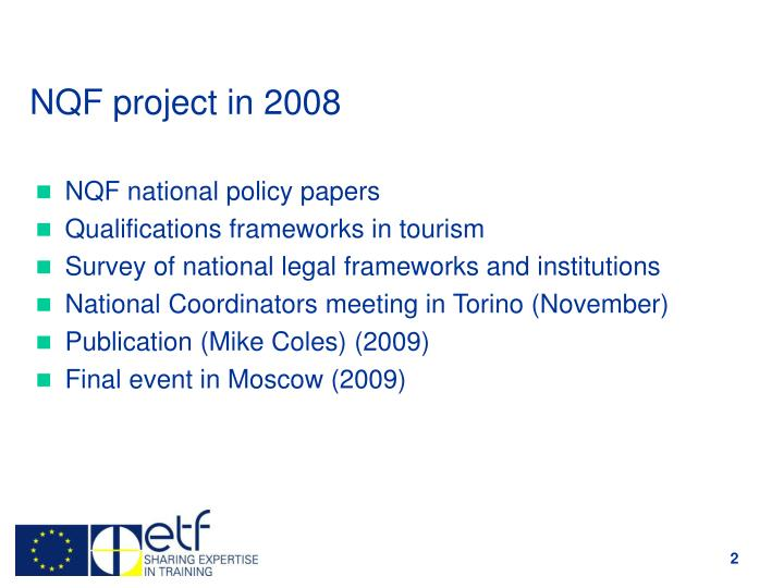 Nqf project in 2008