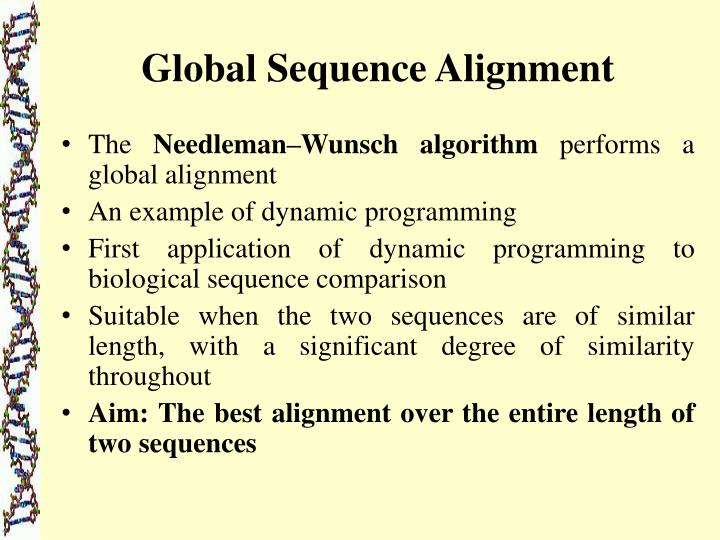 Global Sequence Alignment