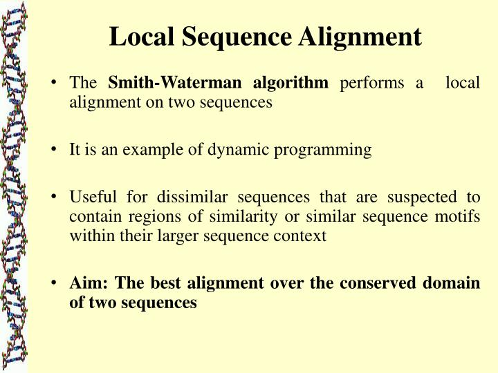 Local Sequence Alignment