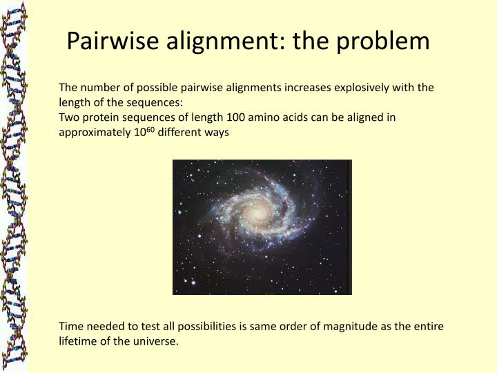 Pairwise alignment: the problem