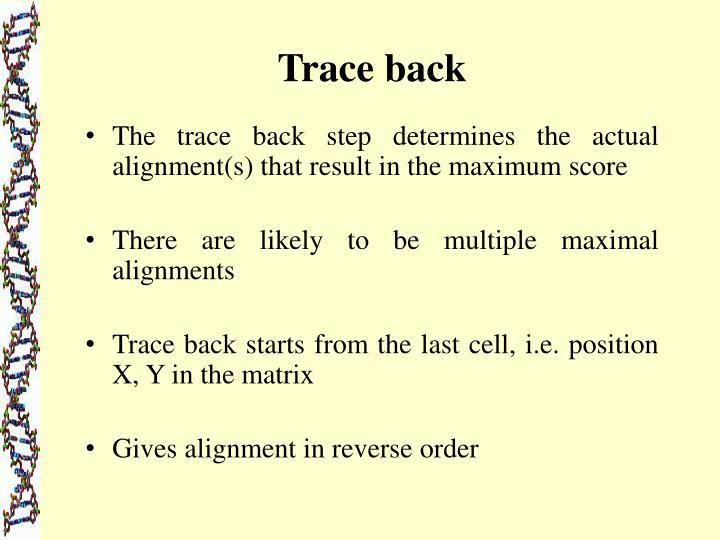 Trace back