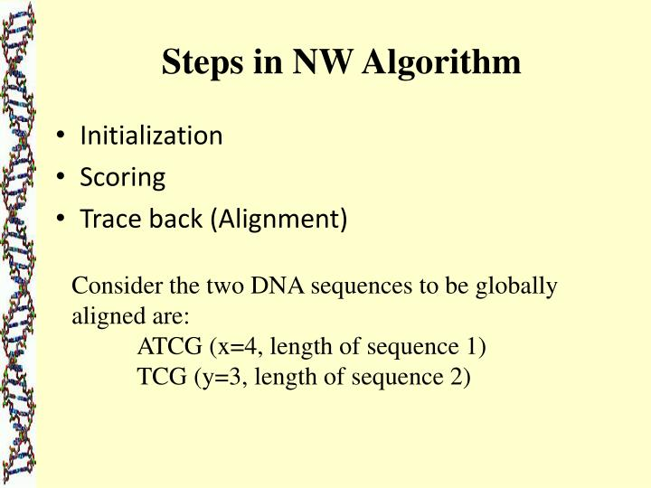 Steps in NW Algorithm