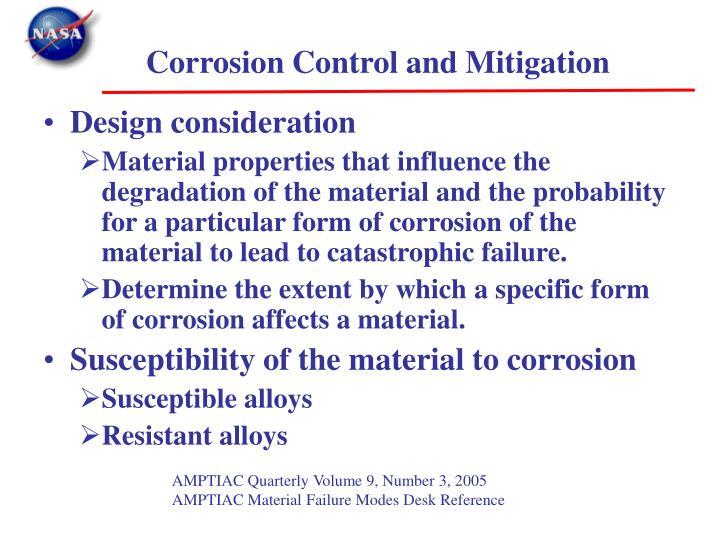 Corrosion Control and Mitigation