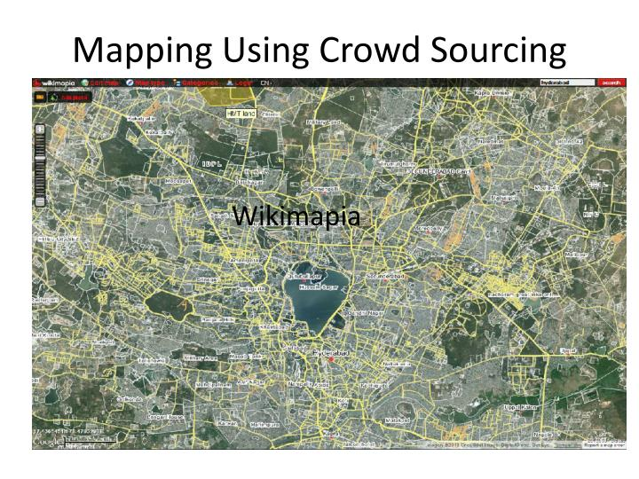 Mapping Using Crowd Sourcing