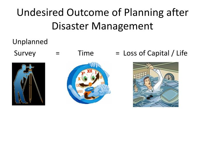 Undesired Outcome of Planning after Disaster Management