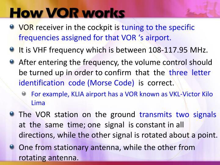 How VOR works