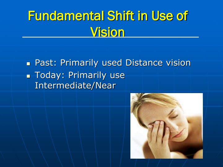 Fundamental shift in use of vision