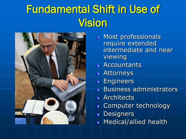 Fundamental shift in use of vision1