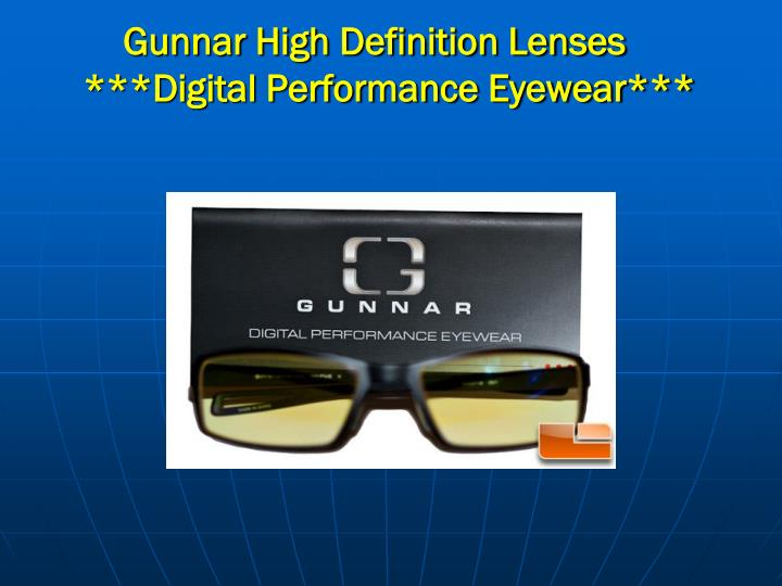 Gunnar High Definition Lenses