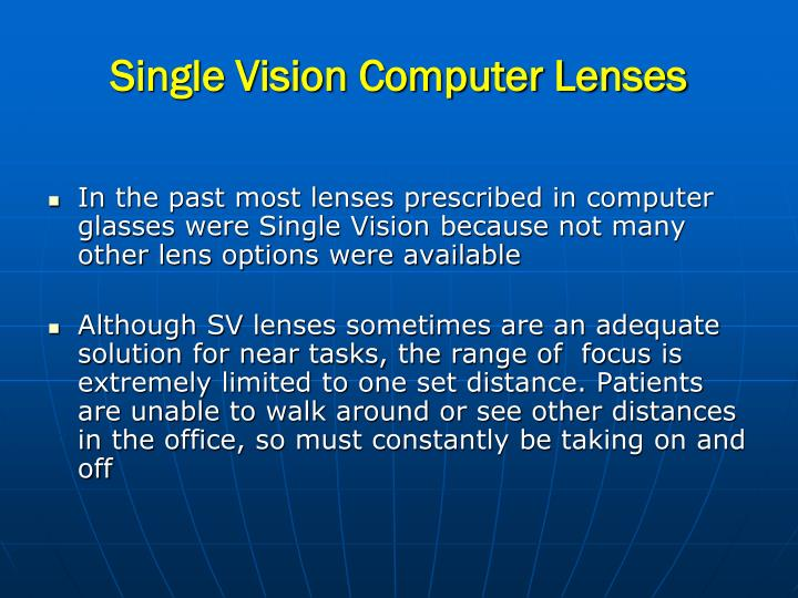 Single Vision Computer Lenses