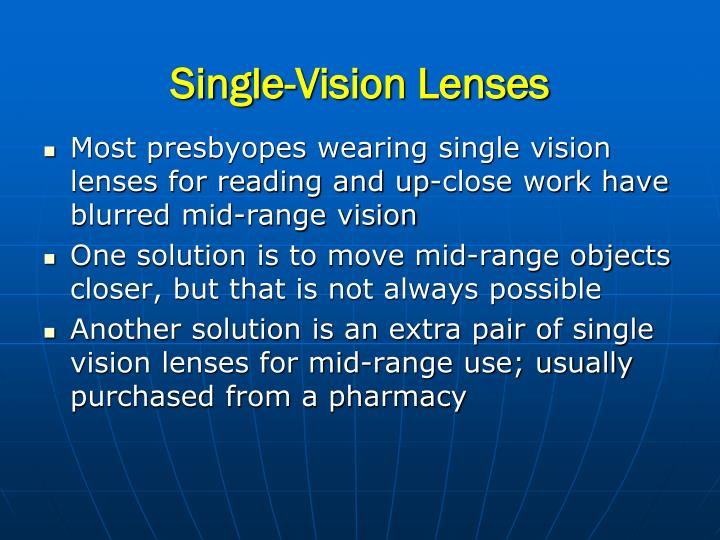 Single-Vision Lenses