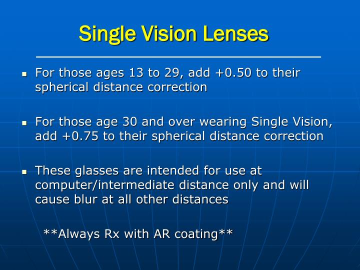 Single Vision Lenses