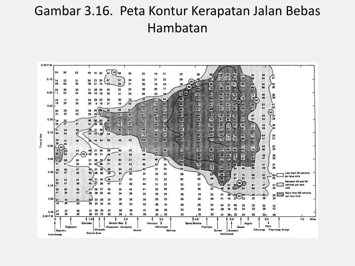 Gambar 3.16.  Peta Kontur Kerapatan Jalan Bebas Hambatan