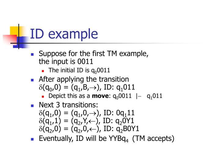 ID example