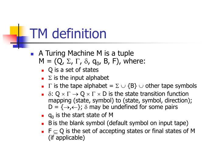 TM definition