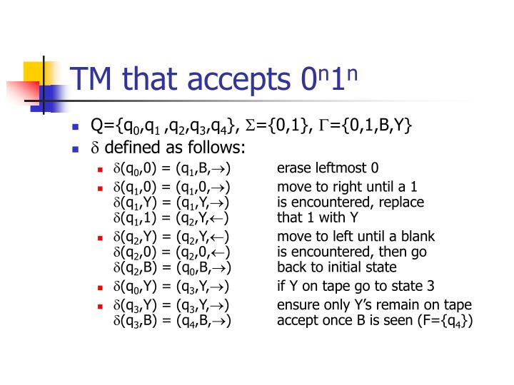TM that accepts 0