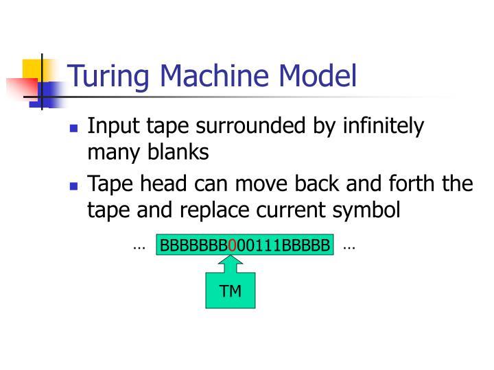 Turing Machine Model