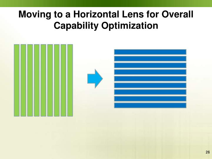 Moving to a Horizontal Lens for Overall Capability Optimization